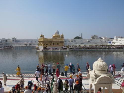 Heilige tempel von amritsar jammu indien